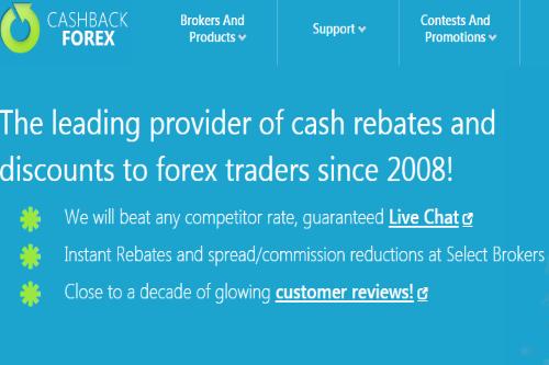 Cashback forex